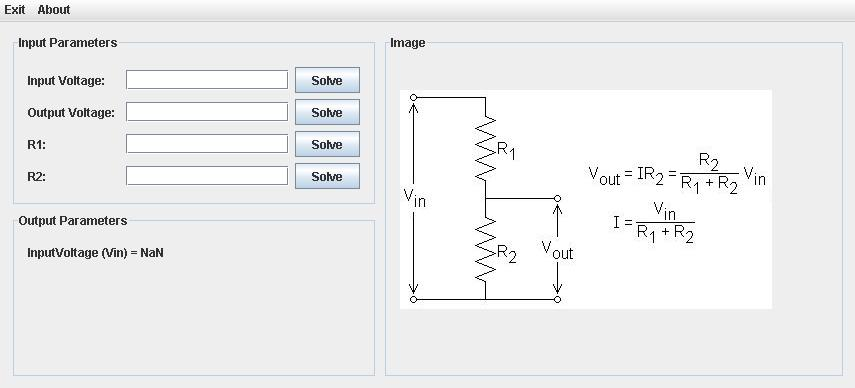 Voltage Divider Interface ( GUI )